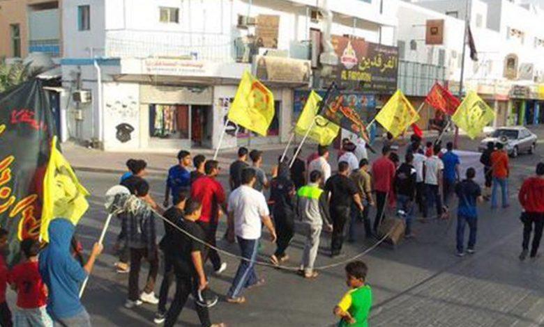 تظاهرة ثورية إحياءً لذكرى اعتداء جيش المرتزقة الخليفي على المتظاهرين قرب دوّار اللؤلؤة