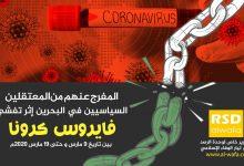 اطلع على تفاصيل المفرج عنهم من السجناء السياسيين في البحرين على إثر تفشّي فايروس كرونا